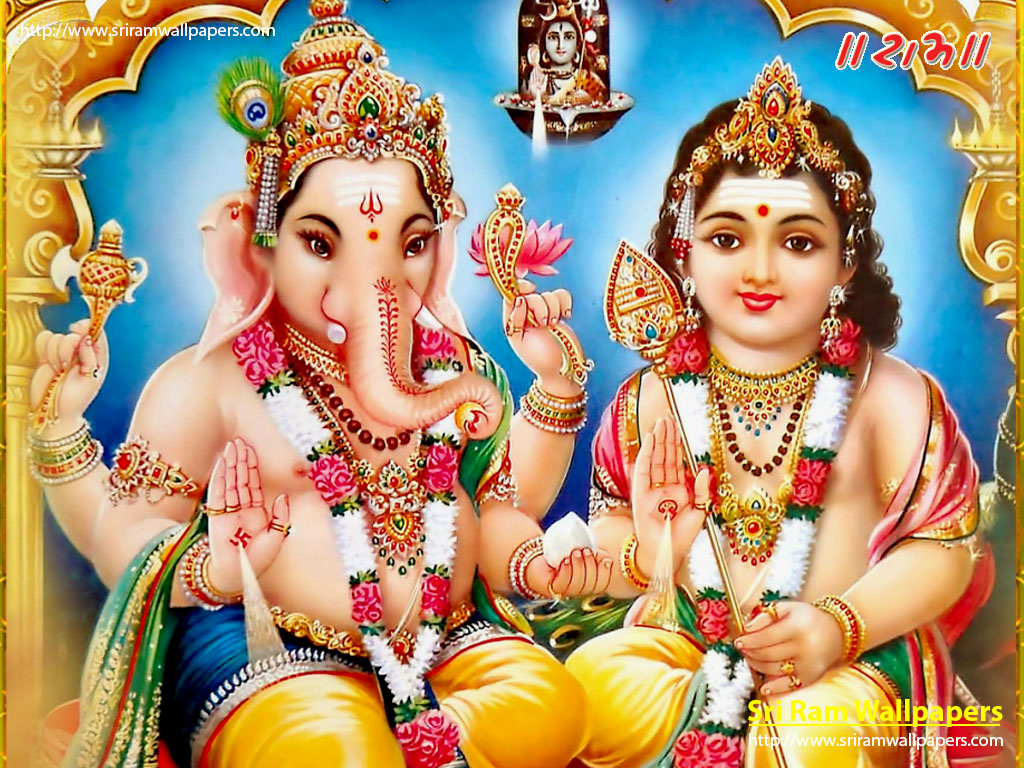 Download Wallpaper Lord Kartikeya - lord-kartikeya-and-ganesha  Image_989689.jpg