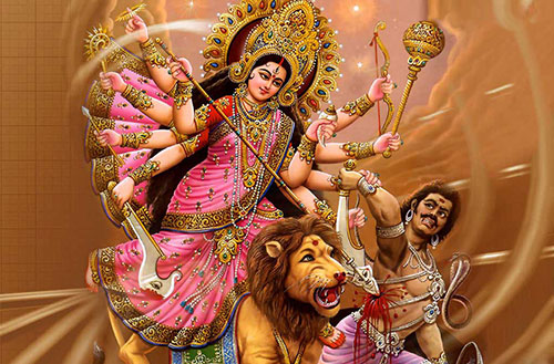 Goddess Wallpaper | Mahishasur Mardini