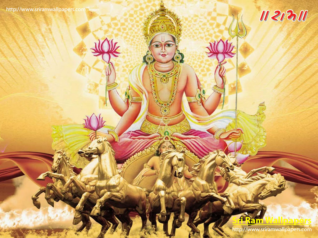 Lord Surya With Seven Horses God Images And Wallpapers Surya Dev Wallpapers