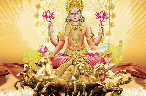 Lord Surya with Seven Horses